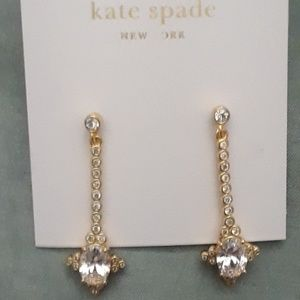 Kate Spade 2 PAIRS DIAMOND GOLD Earrings. All NWT!